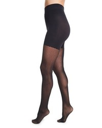 Wolford Raila Control Top Fishnet Tights Black