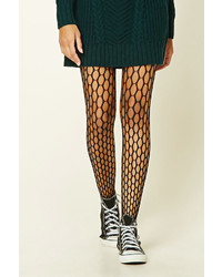 Forever 21 Raw Cut Fishnet Tights