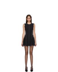 Mugler Black Scuba Flare Dress