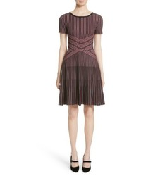 St. John Collection Atlantis Knit Fit Flare Dress