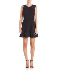 BCBGMAXAZRIA Ericka Grommet Fit  Flare Dress