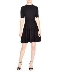 Fit flare knit dress medium 5260036