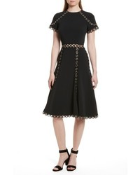 Grommet fit flare dress medium 5262350