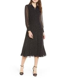 Rebecca Minkoff Kimberly Dot Sheer Sleeve Dress