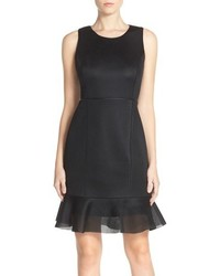 Andrew Marc Marc New York Scuba Mesh Fit Flare Dress