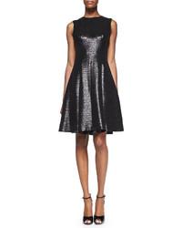 Kate Spade New York Emma Sleeveless Metallic Fit And Flare Dress