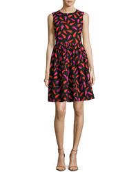Kate Spade New York Hot Pepper Fit And Flare Sleeveless Mini Dress