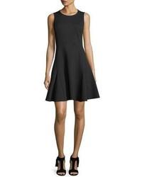 Kate Spade New York Ponte Sleeveless Flounce Fit And Flare Dress