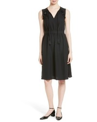 Kate Spade New York Ruffle Crepe Fit Flare Dress
