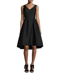 Kate Spade New York Sleeveless Fit And Flare Faille Cocktail Dress Black