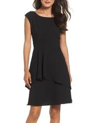 Petite ruffle fit flare dress medium 4977169