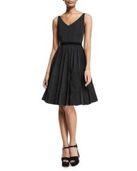 Marc Jacobs Sleeveless Fit  Flare Dress Black