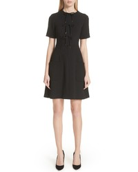 Lela Rose Tie Front A Line Dress