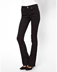 Asos Lennox Kick Flare Jeans In Clean Black