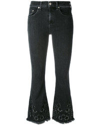 Rag & Bone Floral Embroidery Flared Jeans