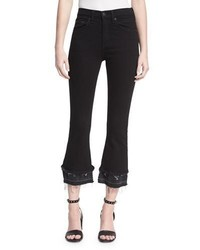 Rag & Bone Jean Crop Flare Released Hem Denim Jeans
