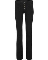 Saint Laurent Mid Rise Flared Jeans