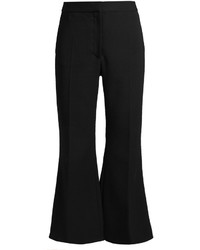 Stella McCartney Angela Kick Flare Cropped Stretch Wool Trousers