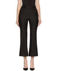Erdem Black Eda Flared Trousers
