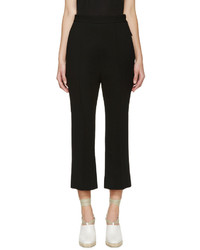Marni Black Flared Crepe Trousers