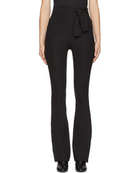 Helmut Lang Black Flared Legging Trousers