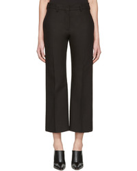 Calvin Klein Collection Black Lagan Crop Flare Trousers