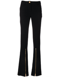 Moschino Boutique Front Zip Flared Trousers