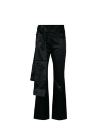 Romeo Gigli Vintage Bow Detail Slim Trousers