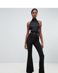 Vesper Tall Button Detail Wide Leg Trousers