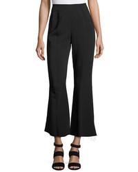 Elizabeth and James Carel Fit Flare Side Zip Cropped Pant Black