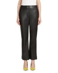 Cédric Charlier Cedric Charlier Faux Leather Flare Pants
