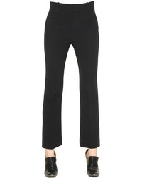 Chloé Flared Crepe Sable Pants