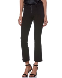 Paige Colette Zip High Waist Crop Flare Ponte Pants