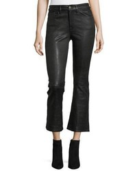 Frame Crop Mini Boot Lamb Leather Pants
