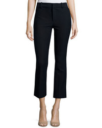 Derek Lam 10 Crosby Cropped Flare Trousers Midnight