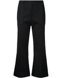 Bassike Cropped Flared Trousers