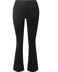 Helmut Lang Cropped Stretch Jersey Flared Pants
