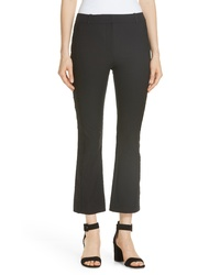 Derek Lam 10 Crosby Embroidery Detail Crop Stretch Cotton Pants