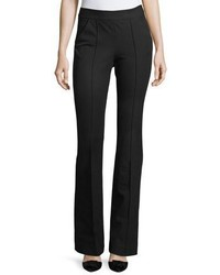 Veronica Beard Evelyn Back Zip Cotton Stretch Flared Pants