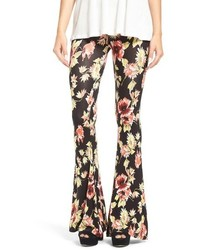 Volcom Fallin For You Floral Print Flare Pants