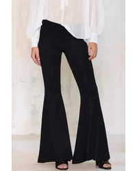 Nasty Gal Far N Wide Knit Flare Pants