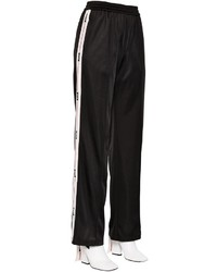 MSGM Flared Logo Bands Techno Jersey Pants