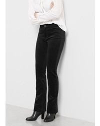 Violeta BY MANGO Flared Velvet Trousers