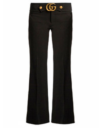 Gucci Gg Stretch Cady Kick Flare Trousers