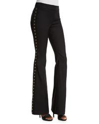 Derek Lam 10 Crosby Grommet Detail Flare Pants Black