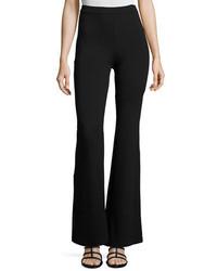 Fuzzi High Rise Flared Trousers Black