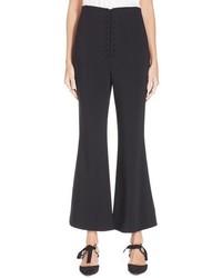 Proenza Schouler High Waist Flare Crop Suit Pants