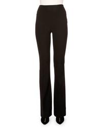 Roland Mouret High Waist Flare Leg Pants Black