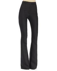 Alexander McQueen High Waist Flare Leg Pants