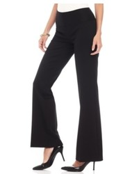 INC International Concepts Petite Pants Pull On Ponte Knit Flare